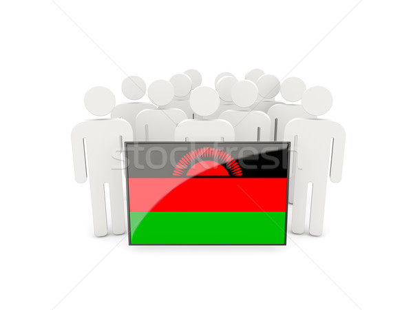 People with flag of malawi Stock photo © MikhailMishchenko
