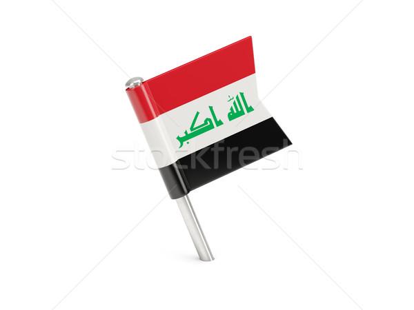 Bandeira pin Iraque isolado branco Foto stock © MikhailMishchenko