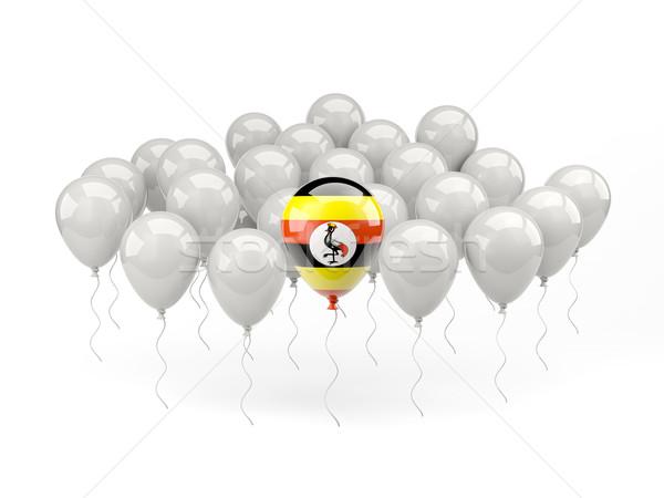 Air ballons pavillon Ouganda isolé blanche Photo stock © MikhailMishchenko