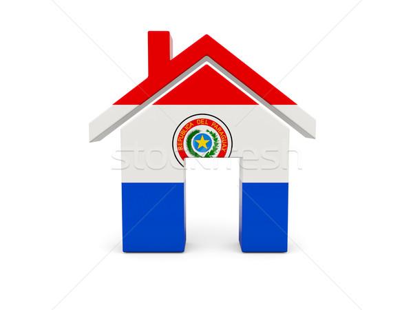 Otthon zászló Paraguay izolált fehér keresés Stock fotó © MikhailMishchenko