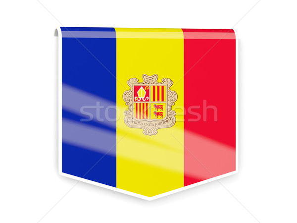 Flag label of andorra Stock photo © MikhailMishchenko