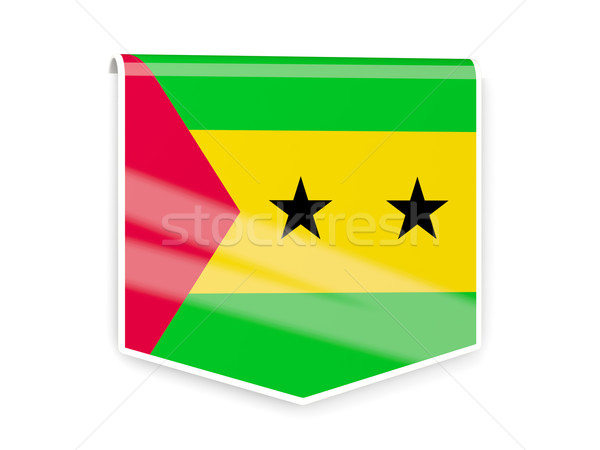 Flag label of sao tome and principe Stock photo © MikhailMishchenko