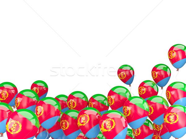 Flying balloons with flag of eritrea Stock photo © MikhailMishchenko