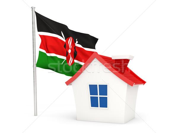 Ház zászló Kenya izolált fehér otthon Stock fotó © MikhailMishchenko