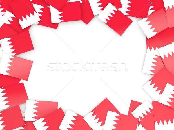 çerçeve bayrak Bahreyn yalıtılmış beyaz Stok fotoğraf © MikhailMishchenko