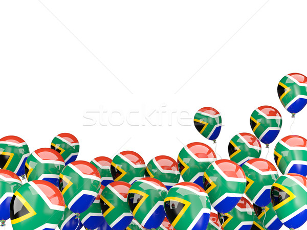 Flying balloons with flag of south africa Stock photo © MikhailMishchenko