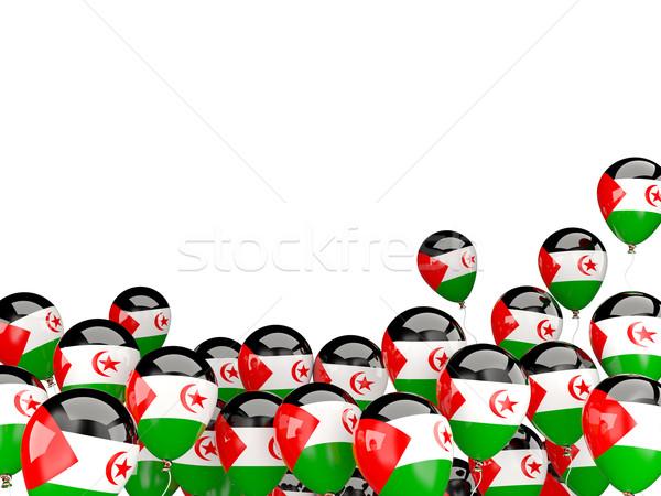 Stock fotó: Repülés · léggömbök · zászló · western · Szahara · izolált