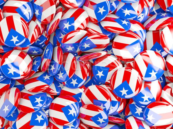 Vlag Puerto Rico achtergrond land pin cirkel Stockfoto © MikhailMishchenko