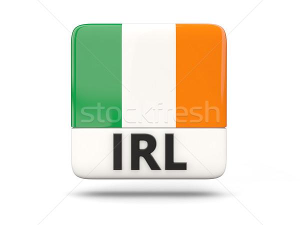 Tér ikon zászló Írország iso kód Stock fotó © MikhailMishchenko