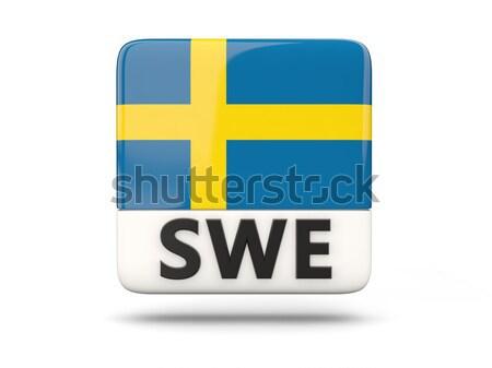Miłości Szwecja podpisania odizolowany biały serca Zdjęcia stock © MikhailMishchenko