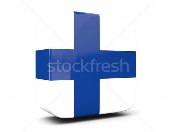 Cuadrados icono bandera Finlandia 3d aislado Foto stock © MikhailMishchenko