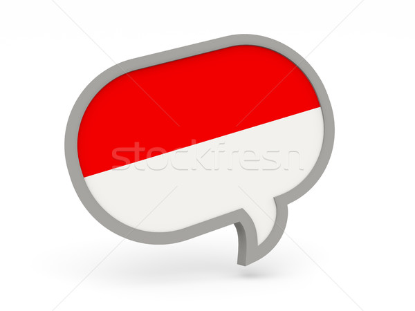 Conversar ícone bandeira Indonésia isolado branco Foto stock © MikhailMishchenko