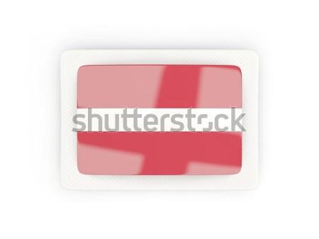 Vierkante icon vlag Letland 3d illustration geïsoleerd Stockfoto © MikhailMishchenko