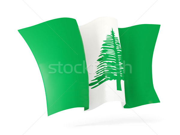 Waving flag of norfolk island. 3D illustration Stock photo © MikhailMishchenko