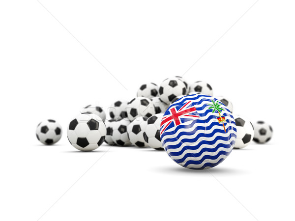 Football with flag of british indian ocean territory isolated on Stock photo © MikhailMishchenko