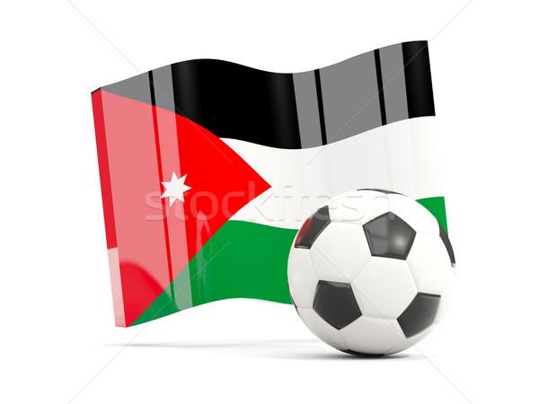 Football with waving flag of jordan isolated on white Stock photo © MikhailMishchenko