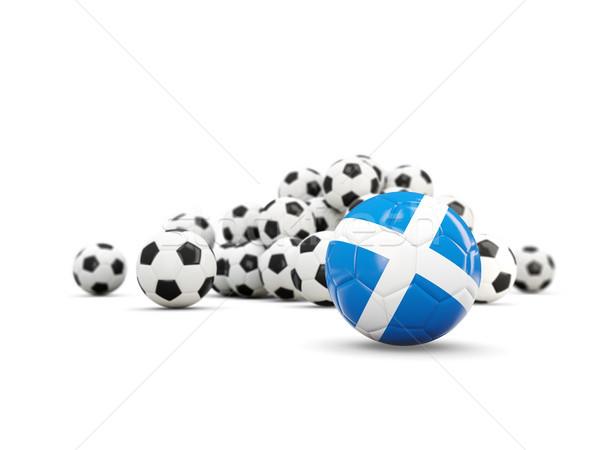 Fútbol bandera Escocia aislado blanco 3d Foto stock © MikhailMishchenko