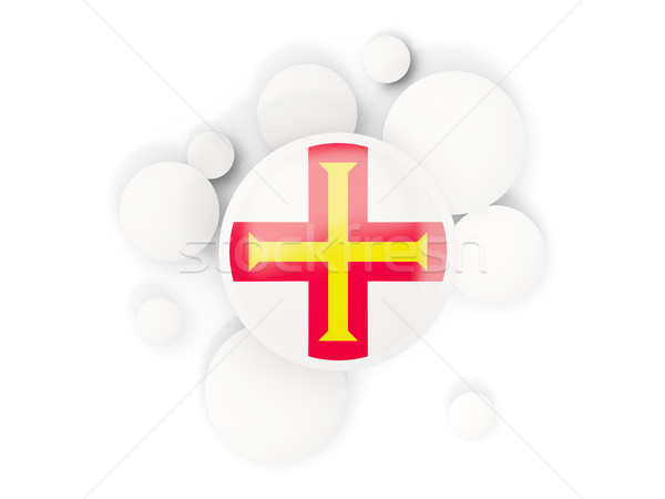 Round flag of guernsey with circles pattern Stock photo © MikhailMishchenko
