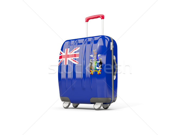 Luggage with flag of south georgia and the south sandwich island Stock photo © MikhailMishchenko