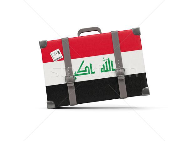 Luggage with flag of iraq. Suitcase isolated on white Stock photo © MikhailMishchenko