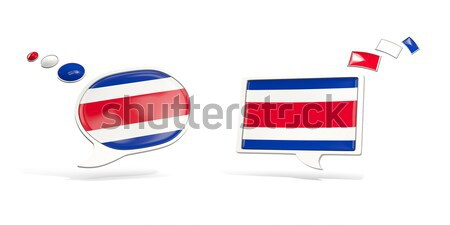Dos chat iconos bandera Costa Rica cuadrados Foto stock © MikhailMishchenko