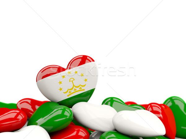 Heart with flag of tajikistan Stock photo © MikhailMishchenko
