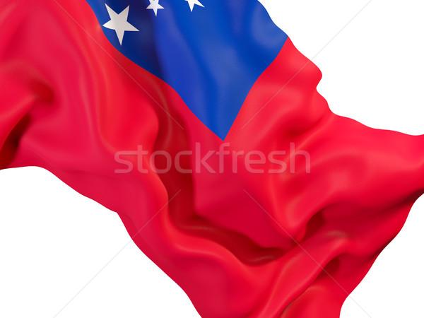Bandeira Samoa ilustração 3d viajar Foto stock © MikhailMishchenko