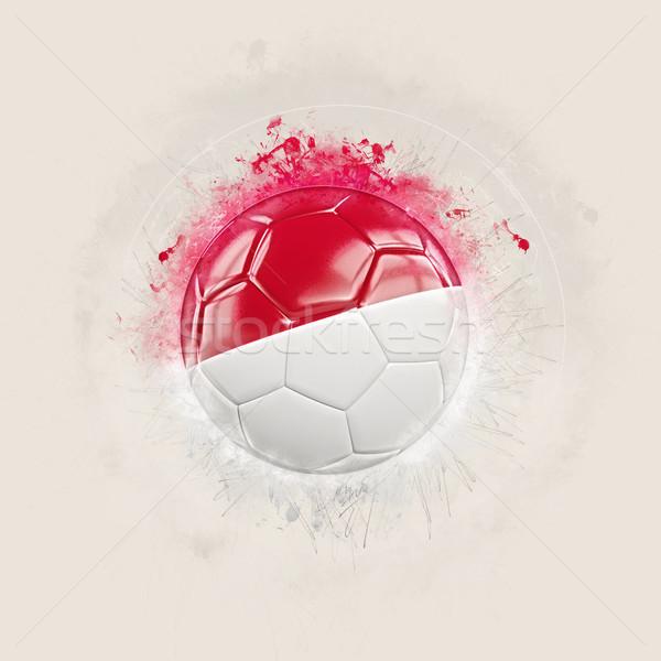 Grunge piłka nożna banderą Indonezja 3d ilustracji świat Zdjęcia stock © MikhailMishchenko