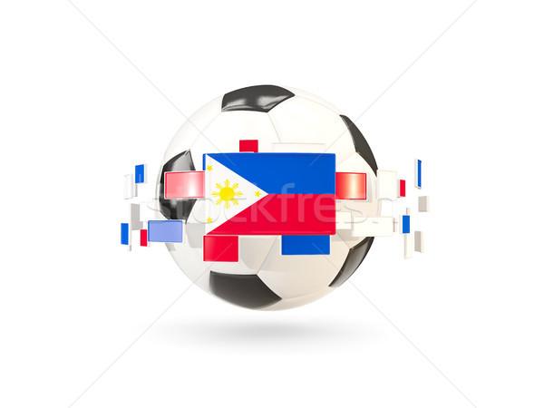 Piłka line flagi banderą Filipiny Zdjęcia stock © MikhailMishchenko