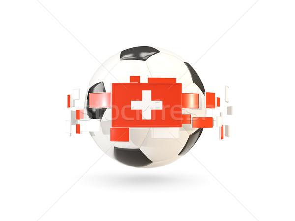 Futbol topu hat bayraklar bayrak İsviçre Stok fotoğraf © MikhailMishchenko