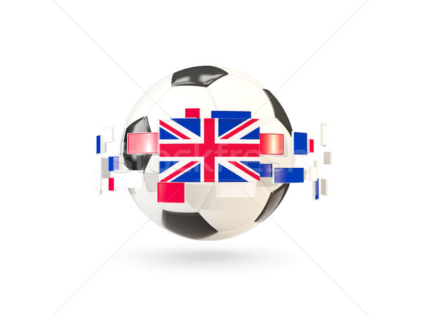 Balón de fútbol línea banderas bandera Reino Unido Foto stock © MikhailMishchenko