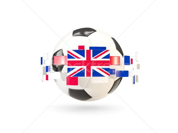 Voetbal lijn vlaggen vlag Verenigd Koninkrijk Stockfoto © MikhailMishchenko