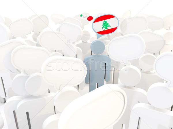 男 フラグ レバノン 群衆 3次元の図 にログイン ストックフォト © MikhailMishchenko