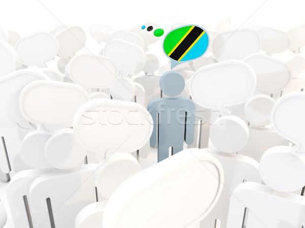 Férfi zászló Tanzánia tömeg 3d illusztráció felirat Stock fotó © MikhailMishchenko