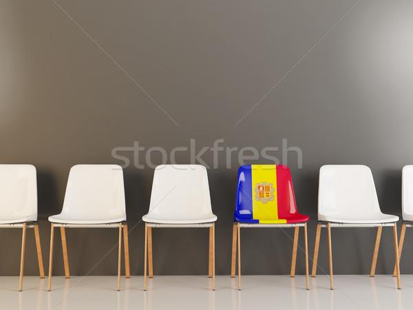 Stuhl Flagge Andorra Zeile weiß Stühle Stock foto © MikhailMishchenko