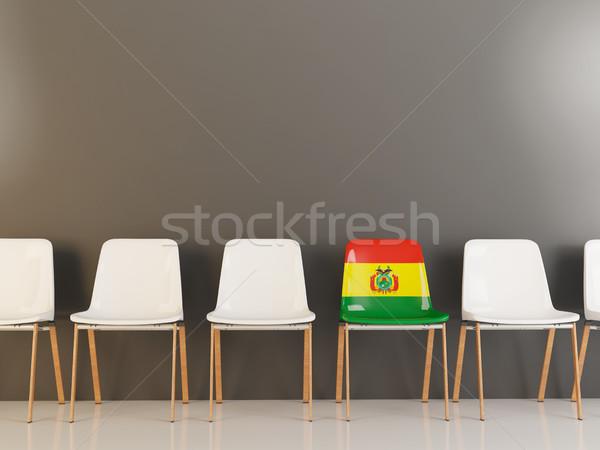 Szék zászló Bolívia csetepaté fehér székek Stock fotó © MikhailMishchenko