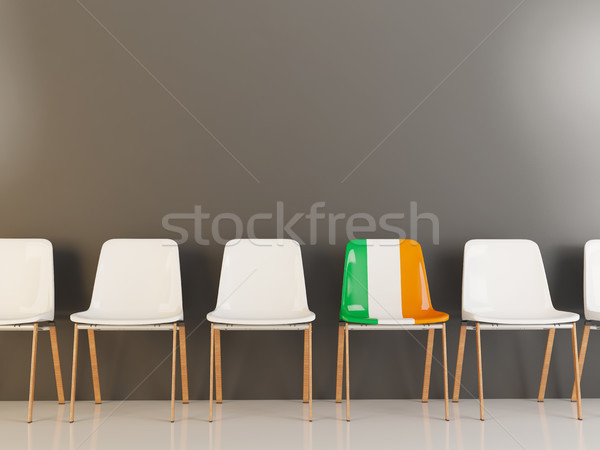 Chair with flag of ireland Stock photo © MikhailMishchenko