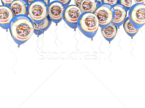 Léggömbök keret zászló Minnesota Egyesült Államok helyi Stock fotó © MikhailMishchenko