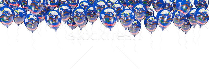 Balões quadro bandeira Dakota do Norte Estados Unidos local Foto stock © MikhailMishchenko