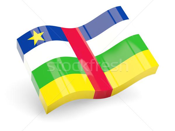 3D флаг центральный африканских республика изолированный Сток-фото © MikhailMishchenko