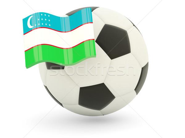 футбола флаг Узбекистан изолированный белый спорт Сток-фото © MikhailMishchenko