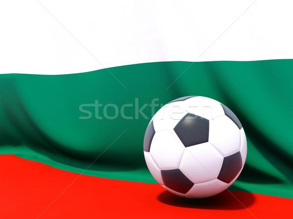 Zászló Bulgária futball csapat vidék Stock fotó © MikhailMishchenko