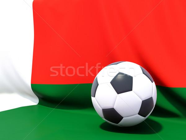 Pavillon Madagascar football équipe pays Photo stock © MikhailMishchenko