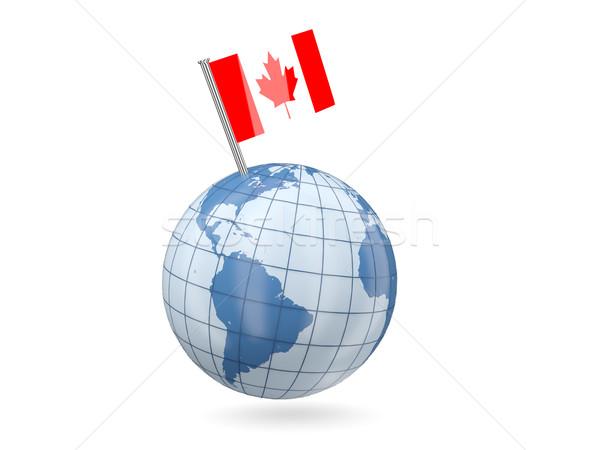 Globe with flag of canada Stock photo © MikhailMishchenko