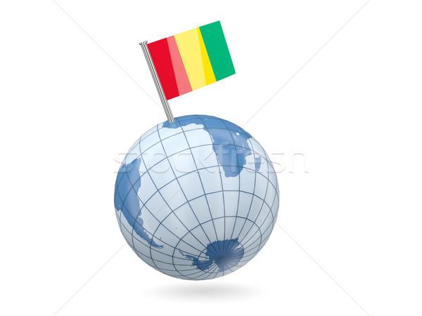 мира флаг Гвинея синий изолированный белый Сток-фото © MikhailMishchenko