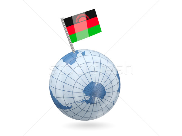 Globe with flag of malawi Stock photo © MikhailMishchenko