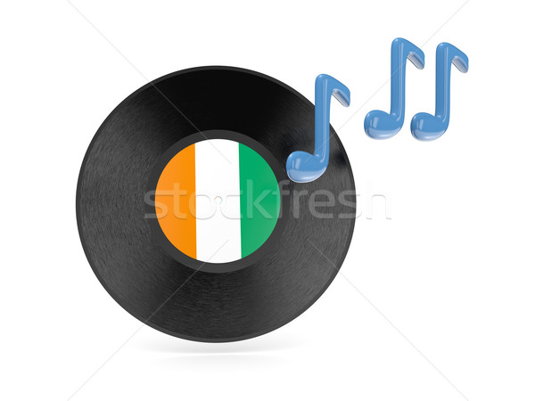Vinyl disk with flag of cote d Ivoire Stock photo © MikhailMishchenko