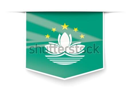 Square flag icon of macao Stock photo © MikhailMishchenko