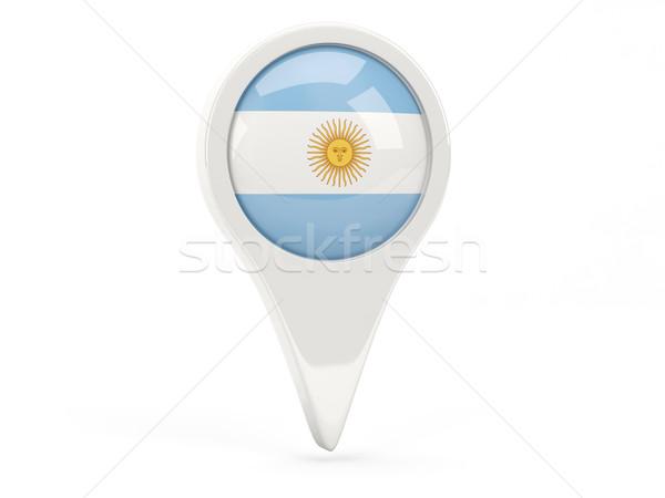 Zászló ikon Argentína izolált fehér térkép Stock fotó © MikhailMishchenko