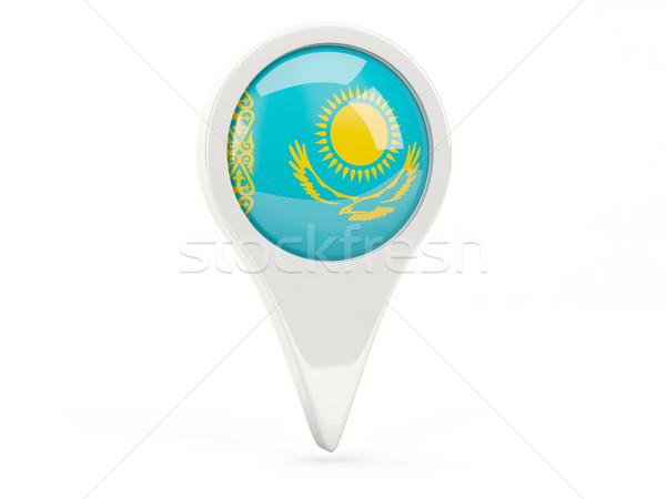 флаг икона Казахстан изолированный белый карта Сток-фото © MikhailMishchenko